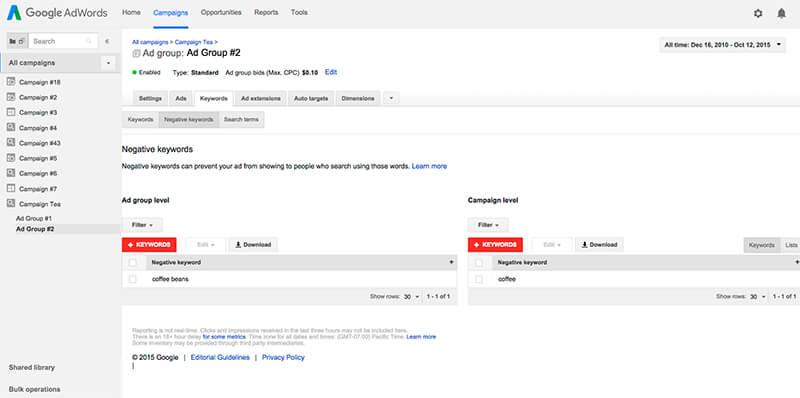 Google ad tips: negative keywords